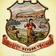 Nebraska Coat Of Arms -1876 Art Print