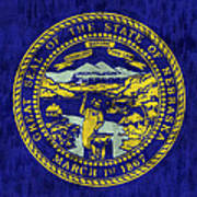 Nebraska Flag Art Print by World Art Prints And Designs