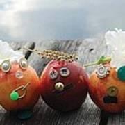 Nectarines At The Lake Art Print