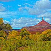 Needle-topped Butte From Highway 211 Going Into Needles District Of Canyonlands National Park-utah  Art Print