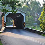 Neff's Mill Covered Bridge Lancaster County Art Print