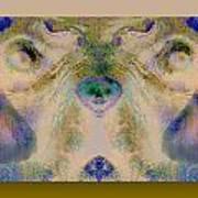 Negdogface Art Print