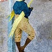 Negro Man Stripping Cane Jamaica Art Print