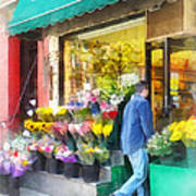 Neighborhood Flower Shop Art Print