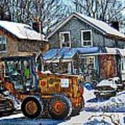 Neighbourhood Snowplough 2 Art Print