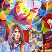 Neil Young-crazy Horse Art Print