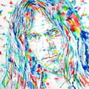 Neil Young - Watercolor Portrait Art Print