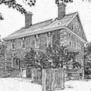 Nelson House In Yorktown Virginia IIi Of IIi Art Print