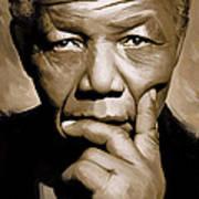 Nelson Mandela Artwork Art Print
