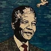 Nelson Mandela Man Of Peace Art Print