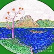 Neno Boat Fudzi Art Print