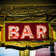 Neon Bar Art Print