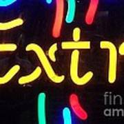 Neon Beer Sign - Extra Art Print