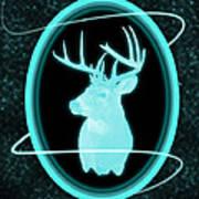 Neon Buck Art Print