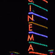 Neon Cinema Art Print