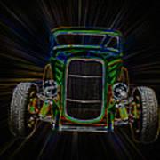 Neon Deuce Coupe Art Print