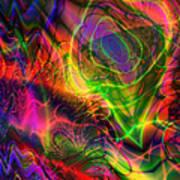 Neon Filigree Art Print