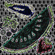Neon Fruit Print by Bennett Berkowitz