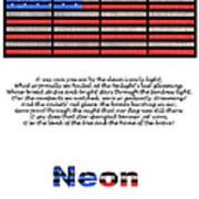Neon Glory Art Print by John Farnan