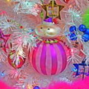 Neon Holiday Tree Art Print
