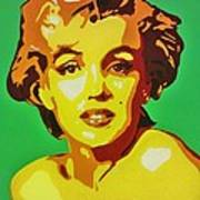 Neon Marilyn Monroe  Art Print