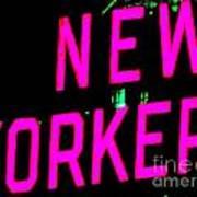 Neon New Yorker Art Print