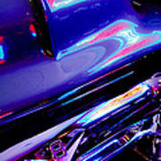 Neon Reflections - Ford V8 Pickup Truck -1044c Art Print