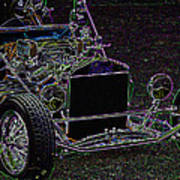 Neon Roadster Art Print