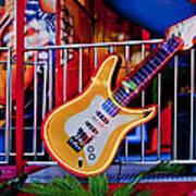 Neon Rock N Roll Art Print
