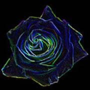Neon Rose 5 Art Print