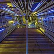 Neon Steps Art Print by Akos Kozari