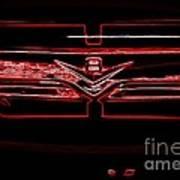 Neon Truck Grill Art Print