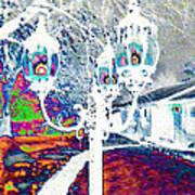 Neon Winter Night Art Print