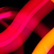 Neon Worms Art Print