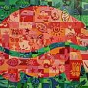 Nepalese Elephant Art Print