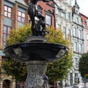 Neptune's Fountain - Gdansk Art Print