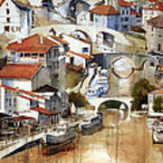 Nerac France Art Print