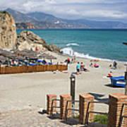 Nerja Beach In Spain Art Print