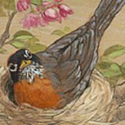 Nesting Robin Art Print
