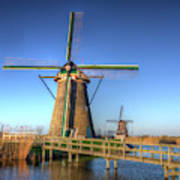 Netherlands, Kinderdijk, Sunrise Art Print