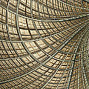 Network Gold Art Print by John Edwards