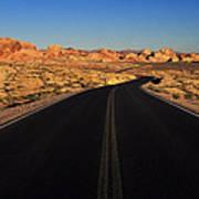 Nevada. Desert Road Art Print