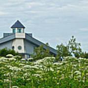 New Church In Ninilchik-ak  Art Print