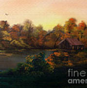 New Day In Autumn Sold Art Print by Cynthia Adams