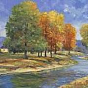 New England Autumn Art Print by John Zaccheo