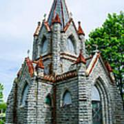 New England Cemetery Mausoleum Art Print