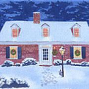New England Christmas Art Print