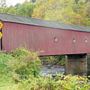 New England Covered Bridge Art Print
