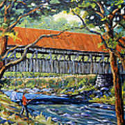 New England Covered Bridge By Prankearts Print by Richard T Pranke