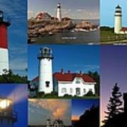 New England Lighthouse Collection Print by Juergen Roth